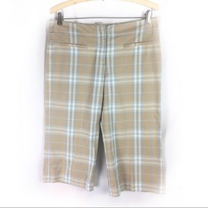 BURBERRY | plaid Capri pants sz 6